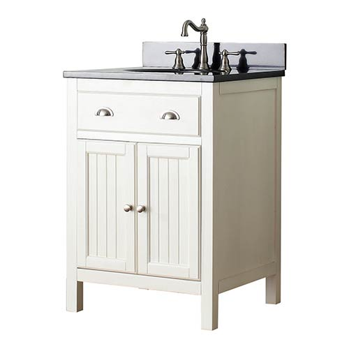 Avanity Hamilton French White 24Inch Vanity Combo With Galala Beige Marble  Top 1804HMLT24FWB_1 24 In Vanity Combo31