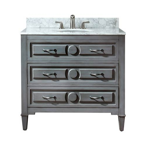 Avanity Kelly 36-Inch Grayish Blue Vanity Only