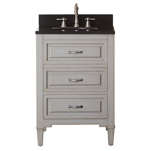 Avanity Kelly Grayish Blue 24-Inch Vanity Combo with Black Granite Top ...
