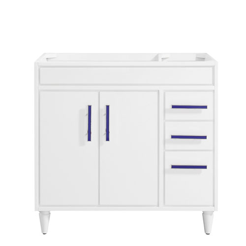 Layla White 36-Inch Vanity Only