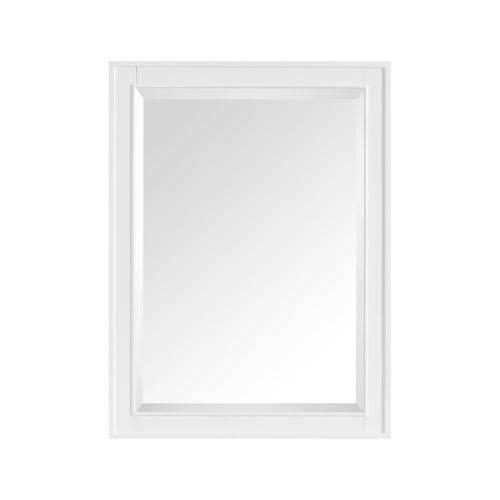 Madison White 24-Inch Mirror