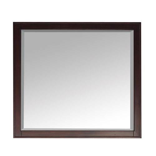 Madison Light Espresso 36 x 32 Rectangular Mirror