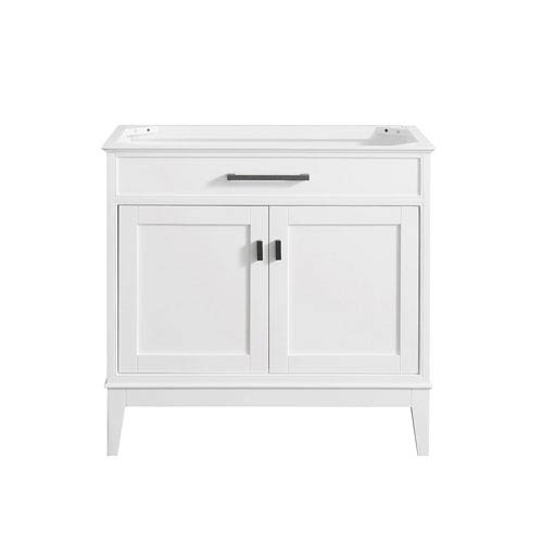 Madison White 36-Inch Vanity Only