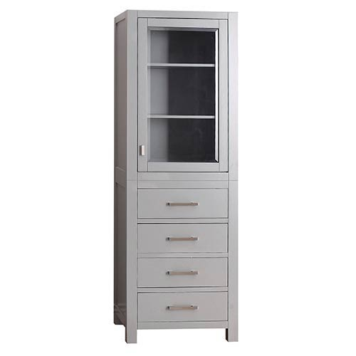 Modero Chilled Gray 24 Inch Linen Tower