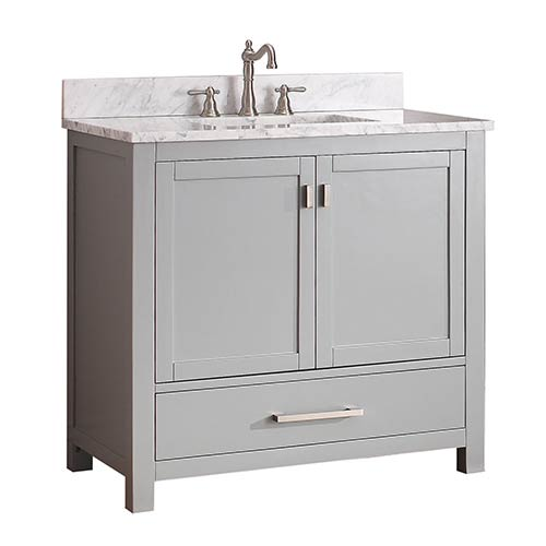 Avanity Modero Chilled Gray 36 Inch Vanity Only Modero V36 ...