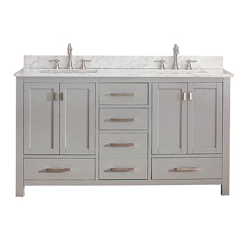 Modero Chilled Gray 60-Inch Double Vanity Only