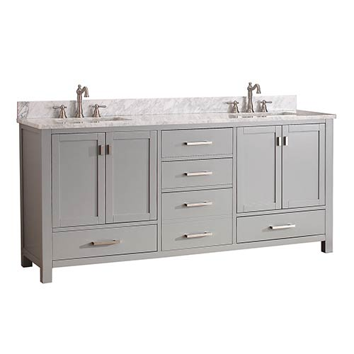 Gentil Avanity Modero Chilled Gray 72 Inch Double Vanity Only