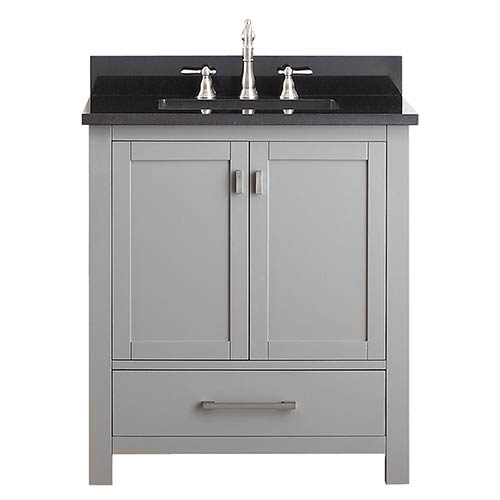 Avanity Modero Chilled Gray 30-Inch Vanity Combo with Black Granite Top