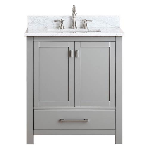 Bathroom vanities 30 inch Glass Top Avanity Modero Chilled Gray 30inch Vanity Combo With White Carrera Marble Top Bellacor 30 Inch Solid Wood Vanity Bellacor