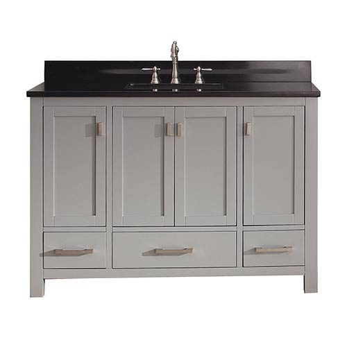 Avanity Modero Chilled Gray 48-Inch Vanity Combo with Black Granite Top