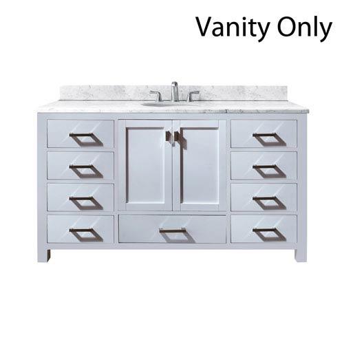 Modero White 60-Inch Single Vanity Only