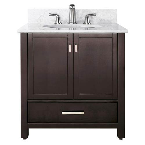 Modero 36-Inch Espresso Vanity with Carrera White Top and Sink