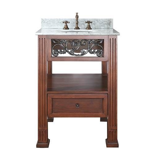 Etonnant Avanity Napa Dark Cherry 24 Inch Sink Vanity With Carrera White Marble Top  1804NAPA24DCC_1