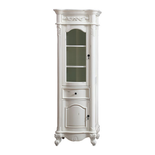 Provence Antique White 24-Inch Linen Tower