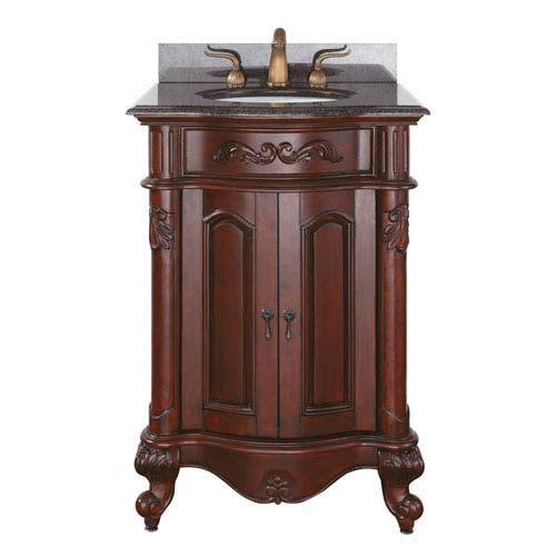 Provence 24-Inch Vanity Only in Antique Cherry Finish