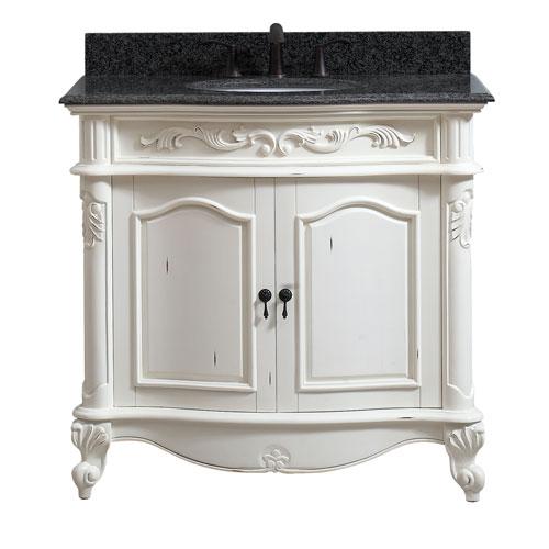 Avanity Provence Antique White 37-Inch Vanity Combo - Antique White Bathroom Vanity Bellacor