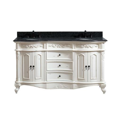 Avanity Provence Antique White 61-Inch Vanity Combo - Antique White Bathroom Vanity Bellacor