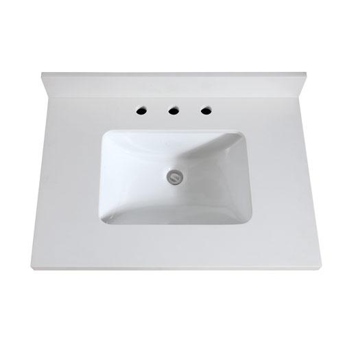 Avanity 31-Inch White Quartz Top with Sink