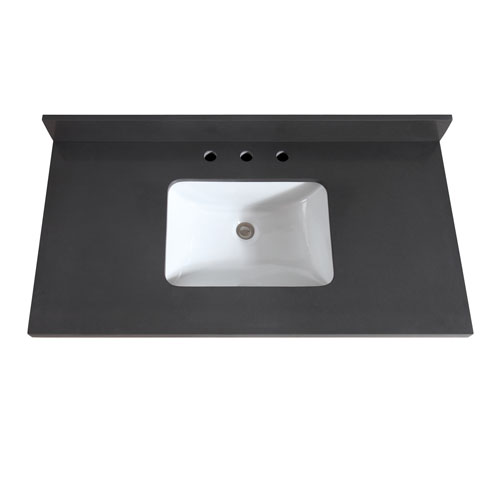 43-Inch Gray Quartz Top with Sink