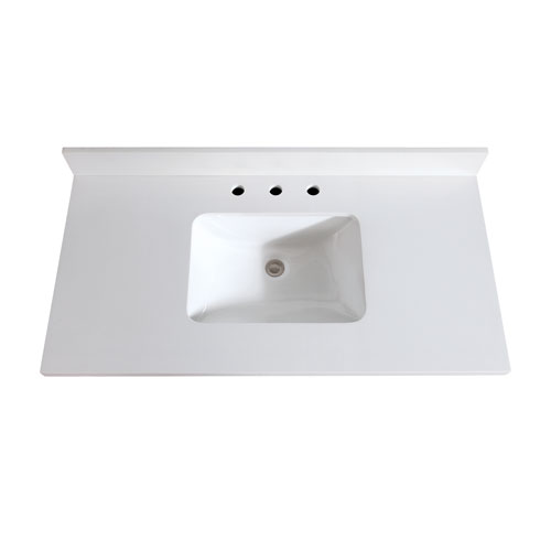 Avanity 49-Inch White Quartz Top with Sink
