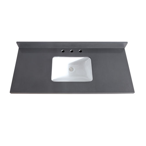 49-Inch Gray Quartz Top with Sink