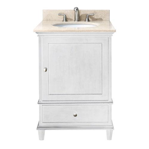 Avanity Windsor 24 Inch Vanity Only In White Finish