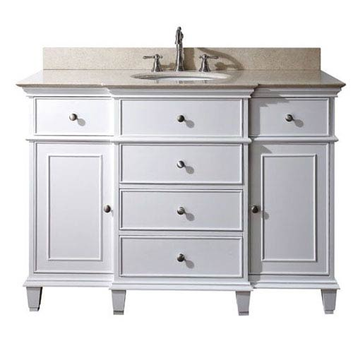 Windsor 48-Inch Vanity Only in White Finish