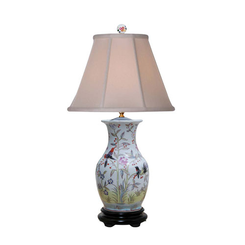 Birds Porcelain Vase Table Lamp
