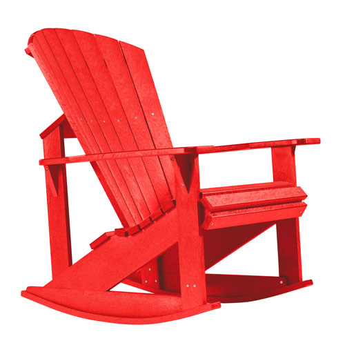 Generations Adirondack Rocking Chair-Red