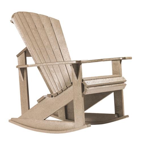 Generations Adirondack Rocking Chair-Beige