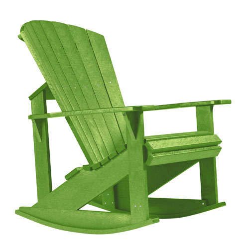 Generations Kiwi Green Adirondack Rocking Chair