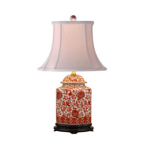 Orange Floral Table Lamp