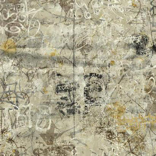 York Wallcoverings Urban Chic Street Art Wallpaper: Sample Swatch Only