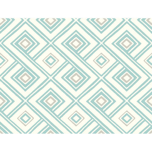 York Wallcoverings Pattern Play Paradox Wallpaper: Sample Swatch Only