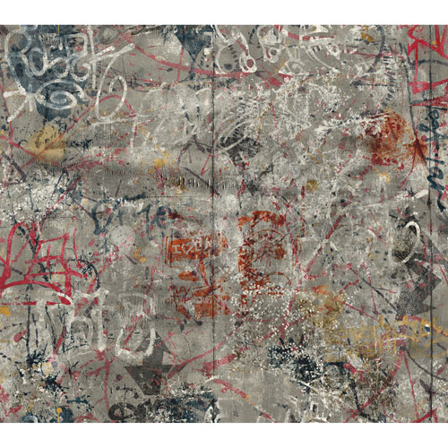 Urban Chic Street Art Wallpaper: Sample Swatch Only