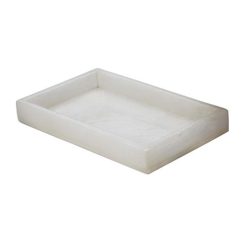 White Alabaster Vanity Tray