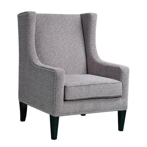 Madison Park Barton Gray Wing Chair