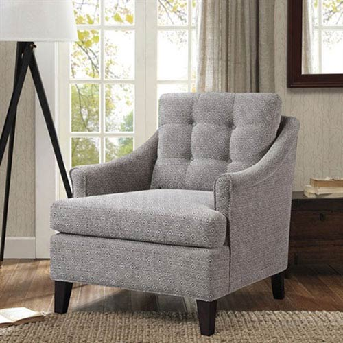 Madison Park Charleston Gray Tufted Club Chair