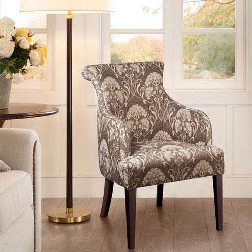 Madison Park Alexis Taupe Multicolor Rollback Accent Chair