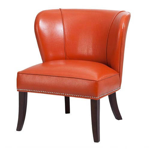 Hilton Orange Armless Accent Chair