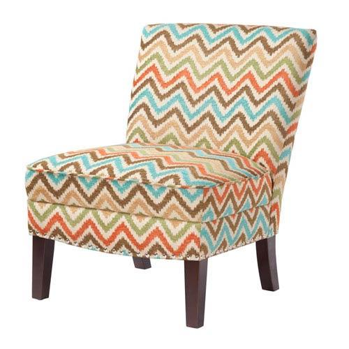 Hayden Multicolor Zigzag Slipper Accent Chair