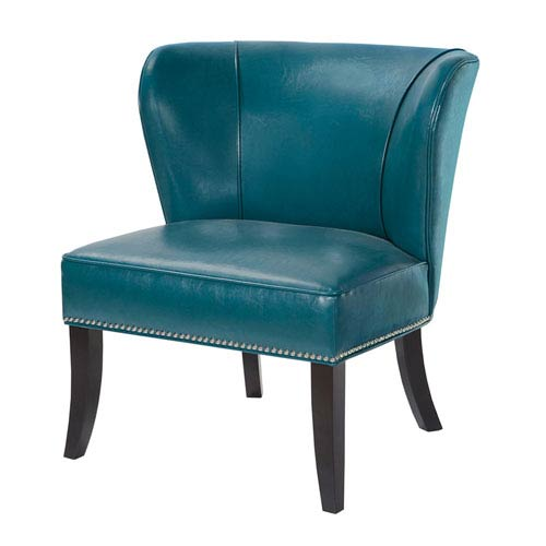 Hilton Blue Armless Accent Chair