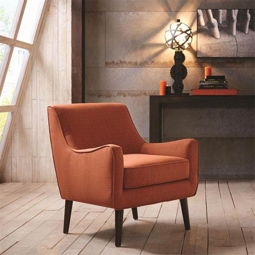 Oxford Orange Mid Century Modern Accent Chair