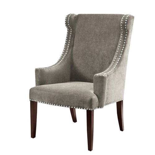 Madison Park Marcel Charcoal High Back Wing Chair