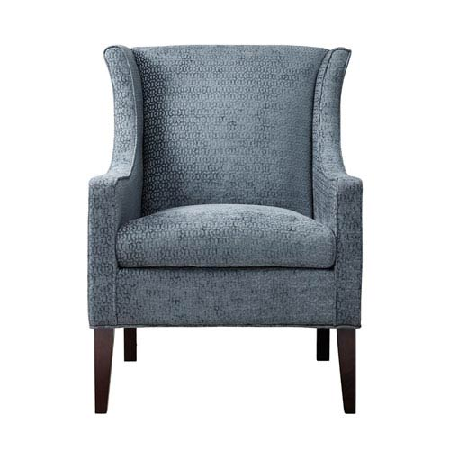 Madison Park Addy Blue Wing Chair