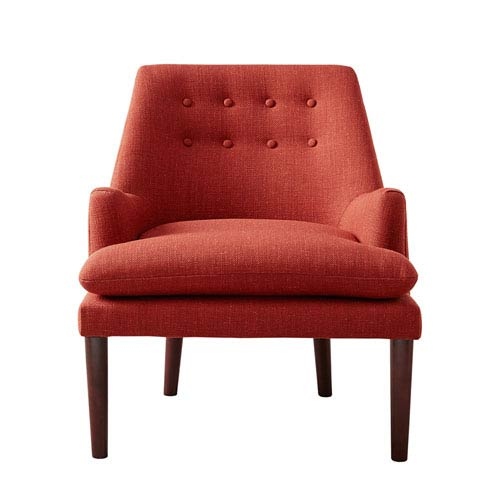 Taylor Red/Orange Mid Century Modern Accent Chair