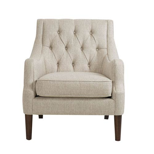 Qwen Cream Button Tufted Chair  sc 1 st  Bellacor & Ivory Madison Park Accent Chairs Free Shipping | Bellacor