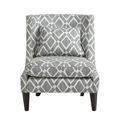 Beau Madison Park Waverly Gray Swoop Arm Chair