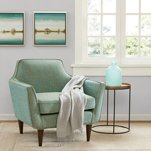 Cruz Green Mid Century Accent Chair