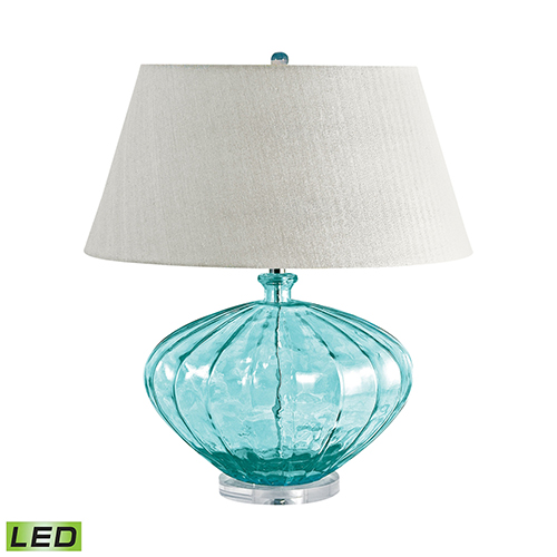 Dimond Blue Recycled Glass LED Table Lamp